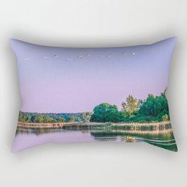 Swans are flying Rectangular Pillow