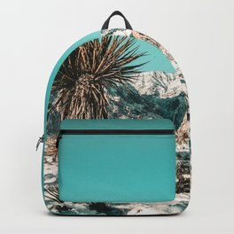 Vintage Lovers Cacti // Red Rock Canyon Mojave Nature Plants and Snow Desert in the Winter Backpack