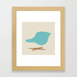 Blue La Chaise Chair by Charles & Ray Eames Framed Art Print