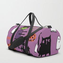 Cute Frankenstein and friends purple #halloween Duffle Bag