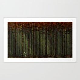 Autumn Forest - Pixel Art Art Print