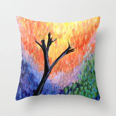 Be the Colorful Tree Throw Pillow
