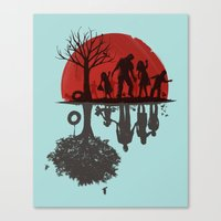 family Canvas Prints featuring A Family Once by Jay Fleck