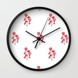Poppy Wallpaper Wall Clock