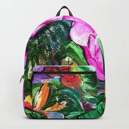 Etude with Tropical Flowers Backpack