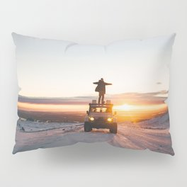 A Landy in the Landscape of Iceland Pillow Sham