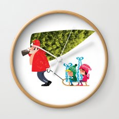 Buying the Christmas Tree Wall Clock