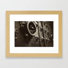 Don't come knockin Framed Art Print