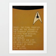 Space: The Final Frontier... Art Print