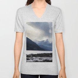 Majestic Mountains Unisex V-Neck
