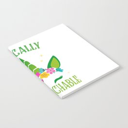 Unicorn sarcasm funny St. Patrick's Day Gift Notebook