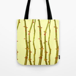 THORN BUSH CANES ABSTRACT IN YELLOW ART Tote Bag