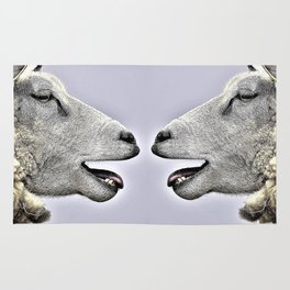 Funny Sheep Sketch Rug