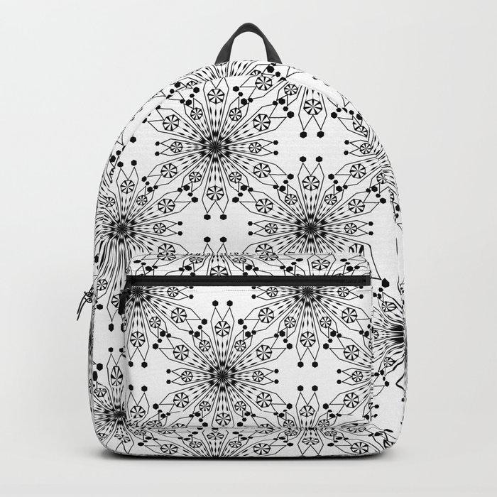 Black lace print elegant ornament Backpack