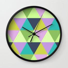 Light harlequin pastel quilt pattern Wall Clock