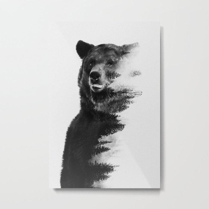 Observing Bear Metal Print