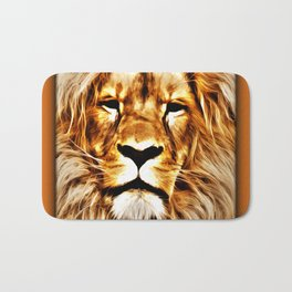 Lion Portrait Bath Mat