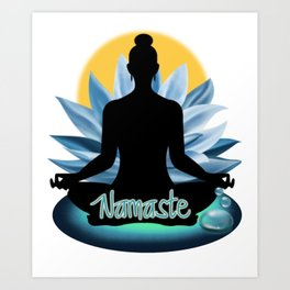 Yoga 7- Meditation Namaste Art Print