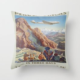 Vintage poster - Peru Throw Pillow