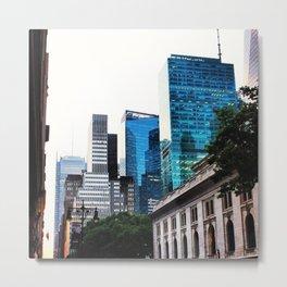 NYC GLASS BUILDINGS Metal Print