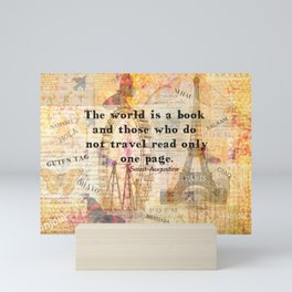Augustine travel quote Mini Art Print
