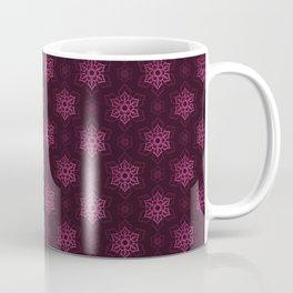 Festive Pink Snowflake Pattern Coffee Mug
