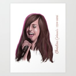 Christina Grimmie Art Print