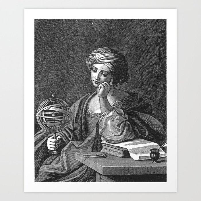Urania, the muse of astronomy (anonymous Italian artist, 1885) Art Print