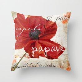 Le Pavot IV Throw Pillow