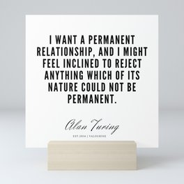 10  | Alan Turing Quotes  | 190716 | Mini Art Print