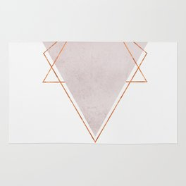 BLUSH COPPER ROSE GOLD GEOMETRIC SYNDROME II Rug