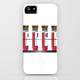 Blood Group Samples iPhone Case