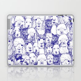 just alpacas blue white Laptop & iPad Skin
