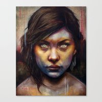 rare Canvas Prints featuring Una by Michael Shapcott