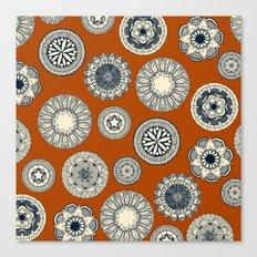mandala cirque spot orange Canvas Print