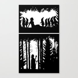 Snow White and the Seven Dwarves Canvas Print