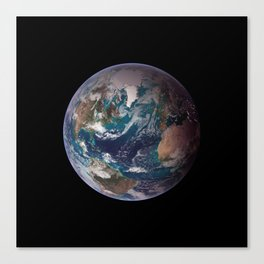The Blue Marble - Western Hemisphere - Earth From Space Canvas Print