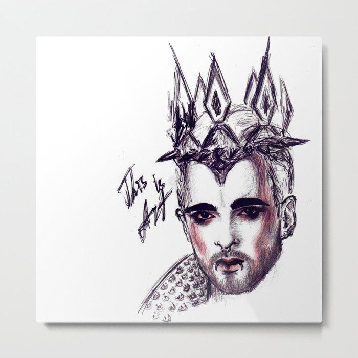 billy traumer kaulitz Metal Print