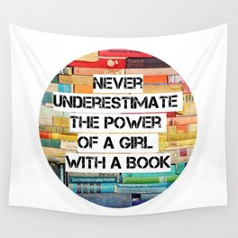 Girl with a book, RBG quote Wall Tapestry