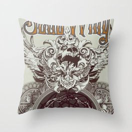 Dead Wing Throw Pillow