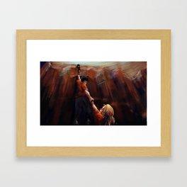 Percy & Annabeth Falling Framed Art Print