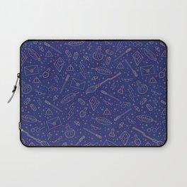 Yer a Wizard - Blue + Bronze Laptop Sleeve