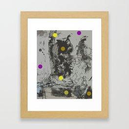 Walking Away from Certain Doom Framed Art Print