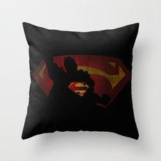 The man of sky Throw Pillow