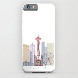 Seattle V2 skyline poster iPhone Case