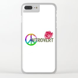 Peace Love and An Introvert Clear iPhone Case