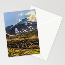 Looking at a Volcano Stationery Cards