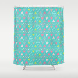 Boho turquoise Shower Curtain