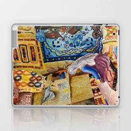 Turkish Rug Weaver by Nadia J Art Laptop & iPad Skin
