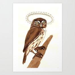 Owl Halo Art Print